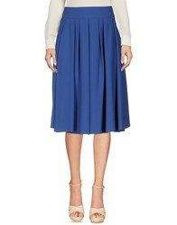 Les Filles Knee Length Skirts Blue