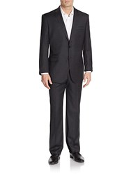 English Laundry Regular Fit Solid Wool Suit Charcoal