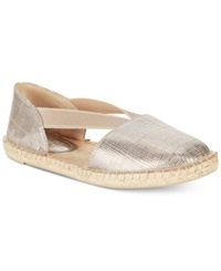 Kenneth Cole Reaction How Nol Espadrille Flats Women's Shoes Silver