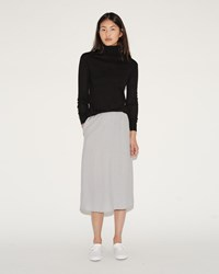 Moderne Long Slip Skirt Grey