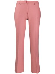 Pt01 Flared Cropped Trousers Pink