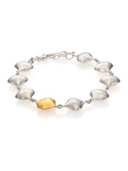 Gurhan Cielo 24K Yellow Gold And Sterling Silver All Around Bracelet Silver Gold