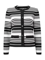 Eastex Striped Ponte Jacket Multi Coloured