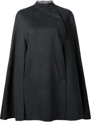 Carolina Herrera Short Cape Grey