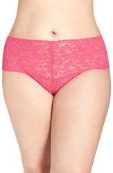 Hanky Panky Plus Size Women's 'Retro' Thong Tickled Pink