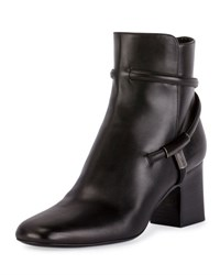 Tom Ford T Bar Leather 65Mm Bootie Black