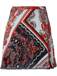 Just Cavalli Paisley Patterned Skirt White