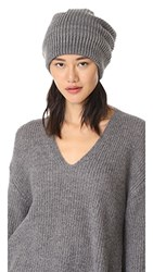 Free People All Day Everyday Slouchy Beanie Hat Grey
