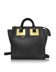 Sophie Hulme Black Leather Small Holmes Rucksack