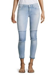 Hudson Suzzi Patched Raw Edge Super Skinny Ankle Jeans Venue