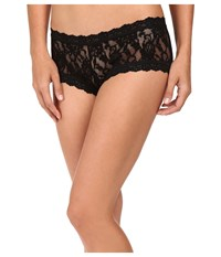 Hanky Panky Signature Lace Boyshorts 3 Pack Black White Chai Women's Underwear Multi