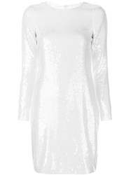 Amsale Sequin Embellished Dress White