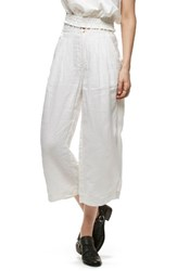 Free People Women's Nomad High Rise Crop Linen Trousers