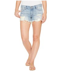 Lucky Brand Drop Pocket Cut Off Shorts In Coral Springs Coral Springs Women's Shorts Red