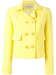 Emilio Pucci Double Breasted Cropped Jacket Yellow And Orange