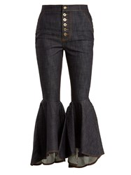 Ellery Hysteria High Rise Kick Flare Jeans Navy