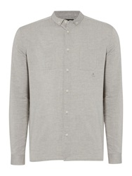 Label Lab Klein Plain Slim Fit Long Sleeve Classic Collar S Grey Marl