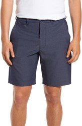 Nordstrom Big And Tall Men's Shop Performance Chino Shorts Navy Iris Heather
