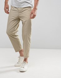 Kiomi Slim Fit Cropped Chino In Beige Beige