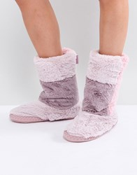 Bedroom Athletics Norma Mid Length Boot Pink Patchwork