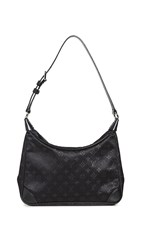 Wgaca What Goes Around Comes Around Lv Black Satin Little Boulogne Bag