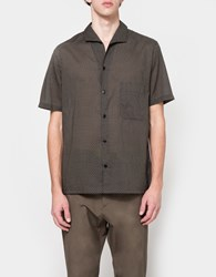 Christophe Lemaire Spread Collar Shirt In Midnight Blue