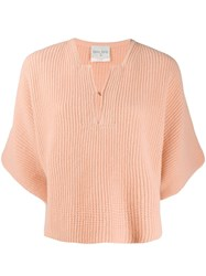 Forte Forte V Neck Knit Jumper Pink
