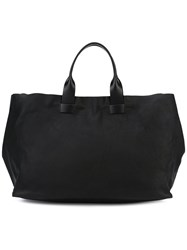 Troubadour Large Tote Bag Women Calf Leather One Size Black
