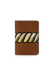 A La Garconne Rope Print Wallet Unisex Leather One Size Brown