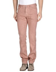 Harmont And Blaine Denim Pants Pastel Pink