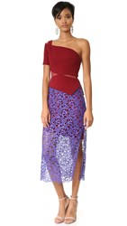 Three Floor Fleurie Dress Bordeaux Plum