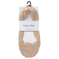 Calvin Klein No Show Liner Lace Socks Bare