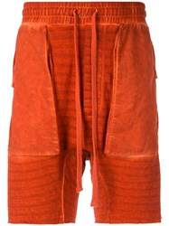 Thom Krom Relaxed Fit Shorts Orange
