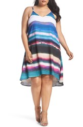 Rebel Wilson X Angels Plus Size Cami Swing Dress Watercolor Brushstrokes