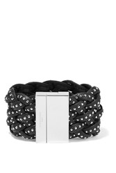 Givenchy Studded Bracelet In Black Braided Leather