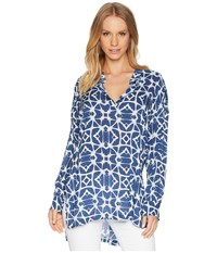 Lucy Love Shanti Tunic Top Going Coastal Clothing Blue