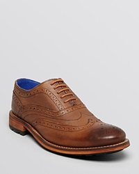 Ted Baker Guri 7 Wingtip Oxfords Tan Leather