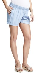 Ingrid And Isabel Easy Elastic Waist Shorts Chambray