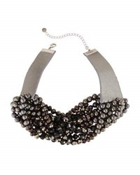 Lydell Nyc Multi Strand Glass Beaded Torsade Choker Necklace