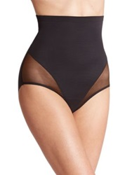Tc Shapewear Sheer Shaping High Waist Brief Black