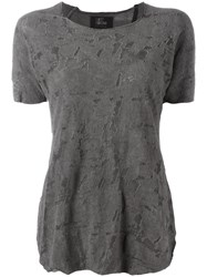 Lost And Found Ria Dunn Distressed Effect T Shirt Grey