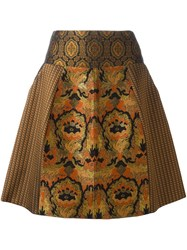 Etro Patch Brocade Bell Skirt Multicolour