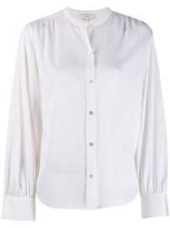 Vince Collarless Shirt White