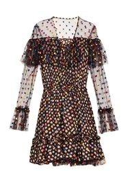 Marco De Vincenzo Polka Dot Embroidered Tulle Dress