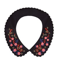 Claudie Pierlot Scalloped Edge Collar Black