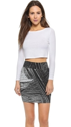 Lanston Ribbed Crop Top White