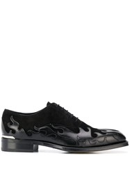 Alexander Mcqueen Flame Pattern Oxford Shoes 60