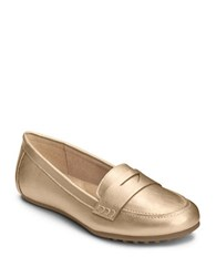 Aerosoles Drive In Penny Loafers Gold