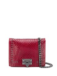 Marc Ellis Lizard Effect Crossbody Bag Red
