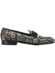 Dolce And Gabbana Damask Loafers Black